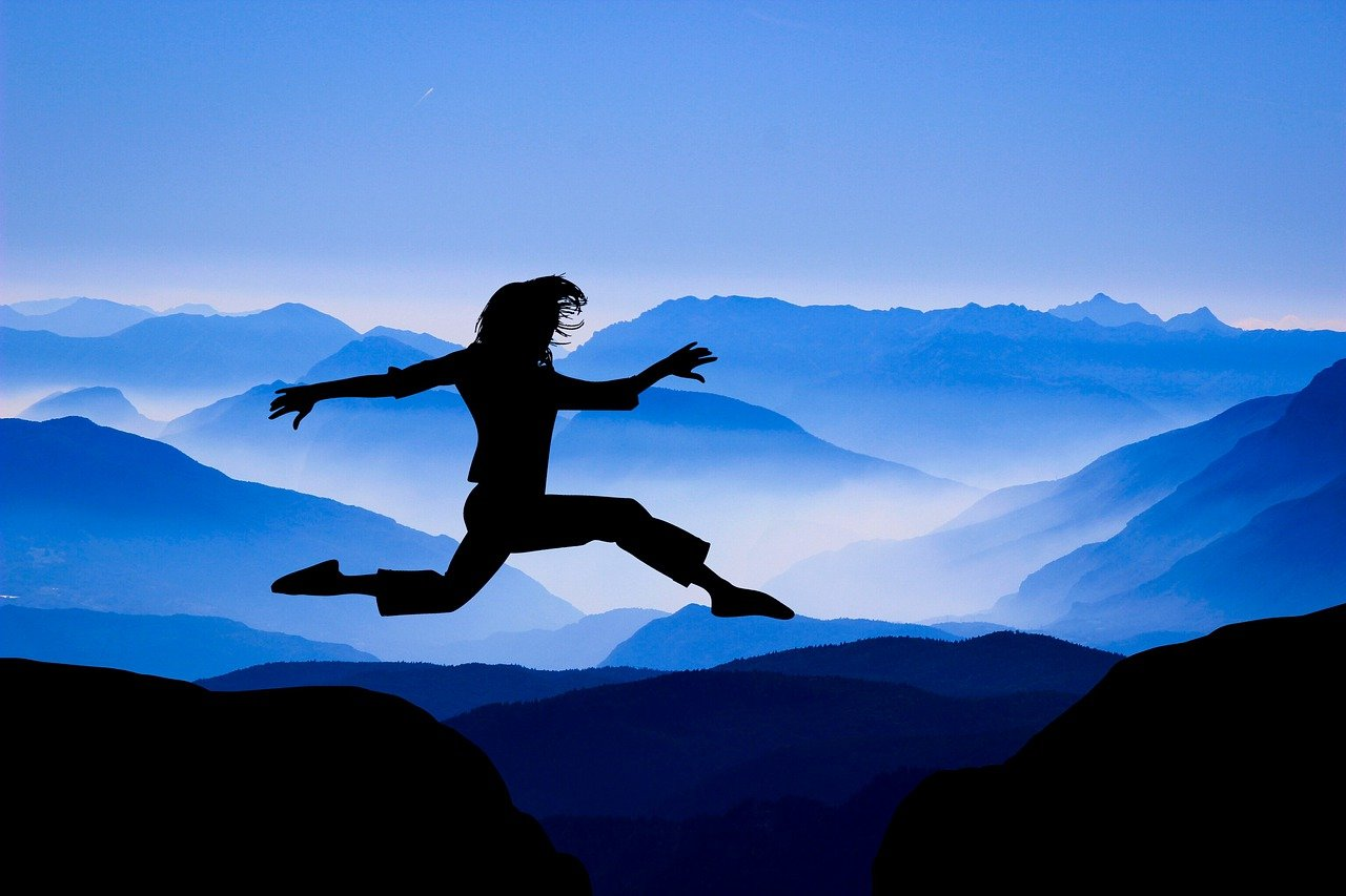 design, woman, jumping
